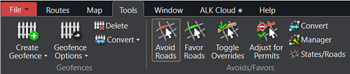 Avoid Roads in PC*MILER Tools Tab